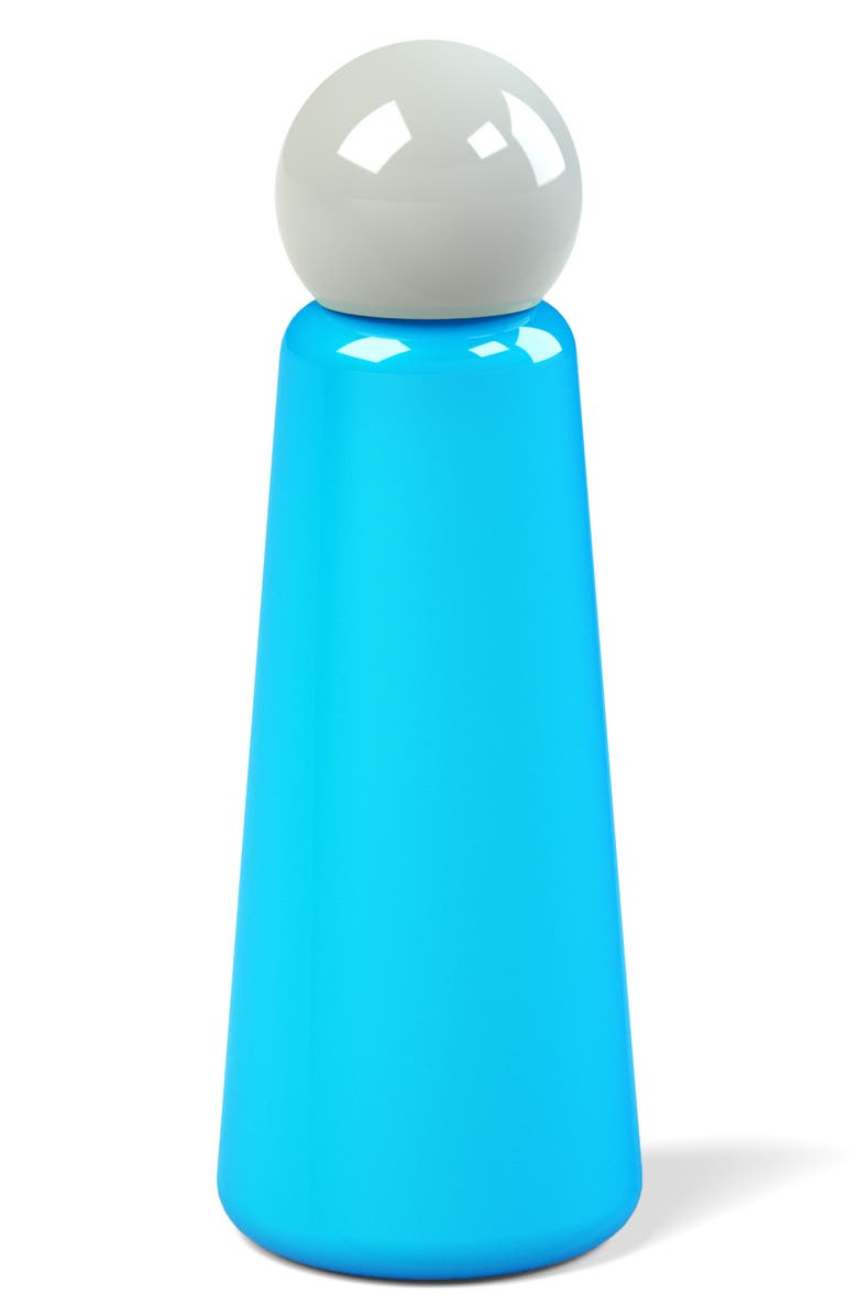 LUND LONDON Skittle Stainless Steel Bottle, Main, color, SKY BLUE AND LIGHT GREY