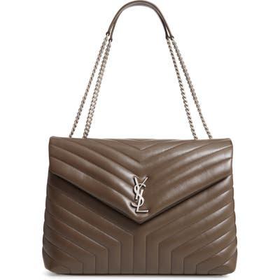 Saint Laurent Large Loulou Matelasse Leather Shoulder Bag - Brown