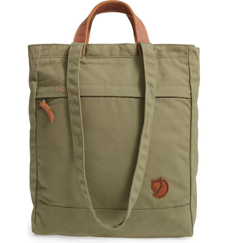 FJÄLLRÄVEN 'Totepack No.1' Water Resistant Tote, Main, color, GREEN