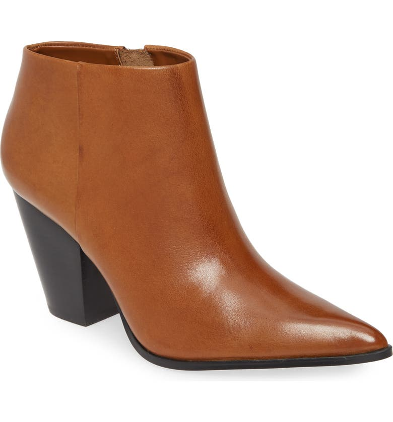 CALVIN KLEIN Ignazia Siriana Bootie, Main, color, RUSSET FAUX LEATHER
