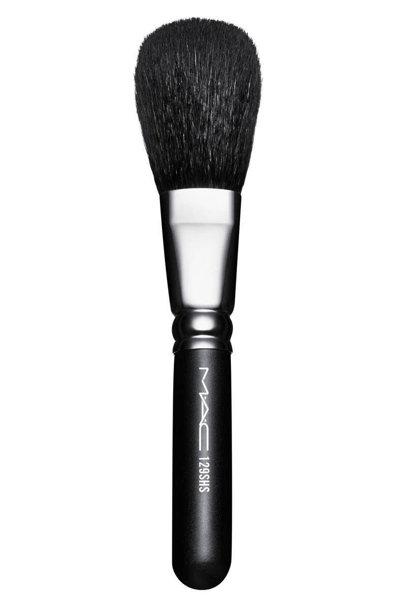 MAC COSMETICS MAC 129SHS Synthetic Powder/Blush Brush, Main, color, NO COLOR