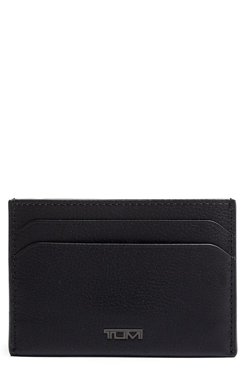 TUMI Leather Money Clip Card Case, Main, color, 011