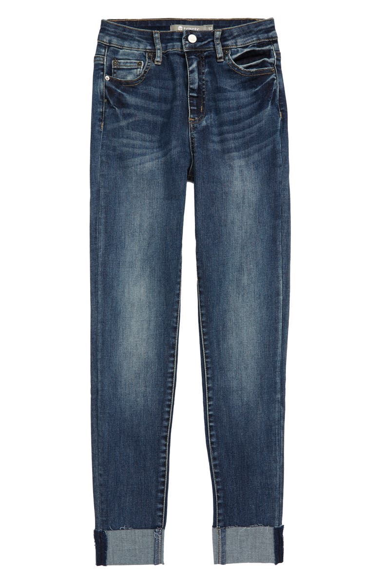 TRACTR Ultra High Rise Ankle Skinny Jeans, Main, color, INDIGO