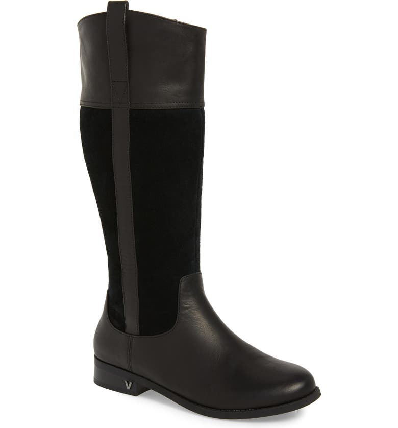 VIONIC Downing Boot, Main, color, BLACK LEATHER
