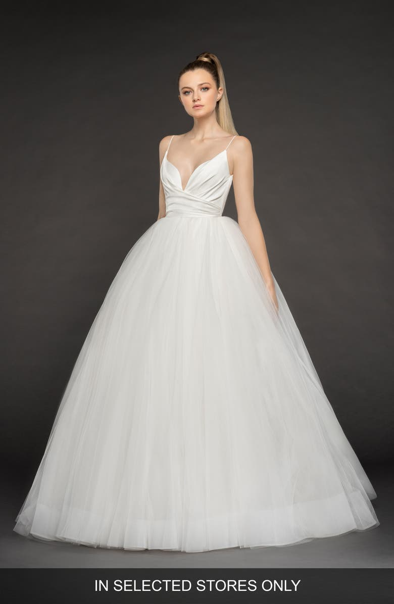BLUSH BY HAYLEY PAIGE Olympia Tulle Ballgown, Main, color, IVORY
