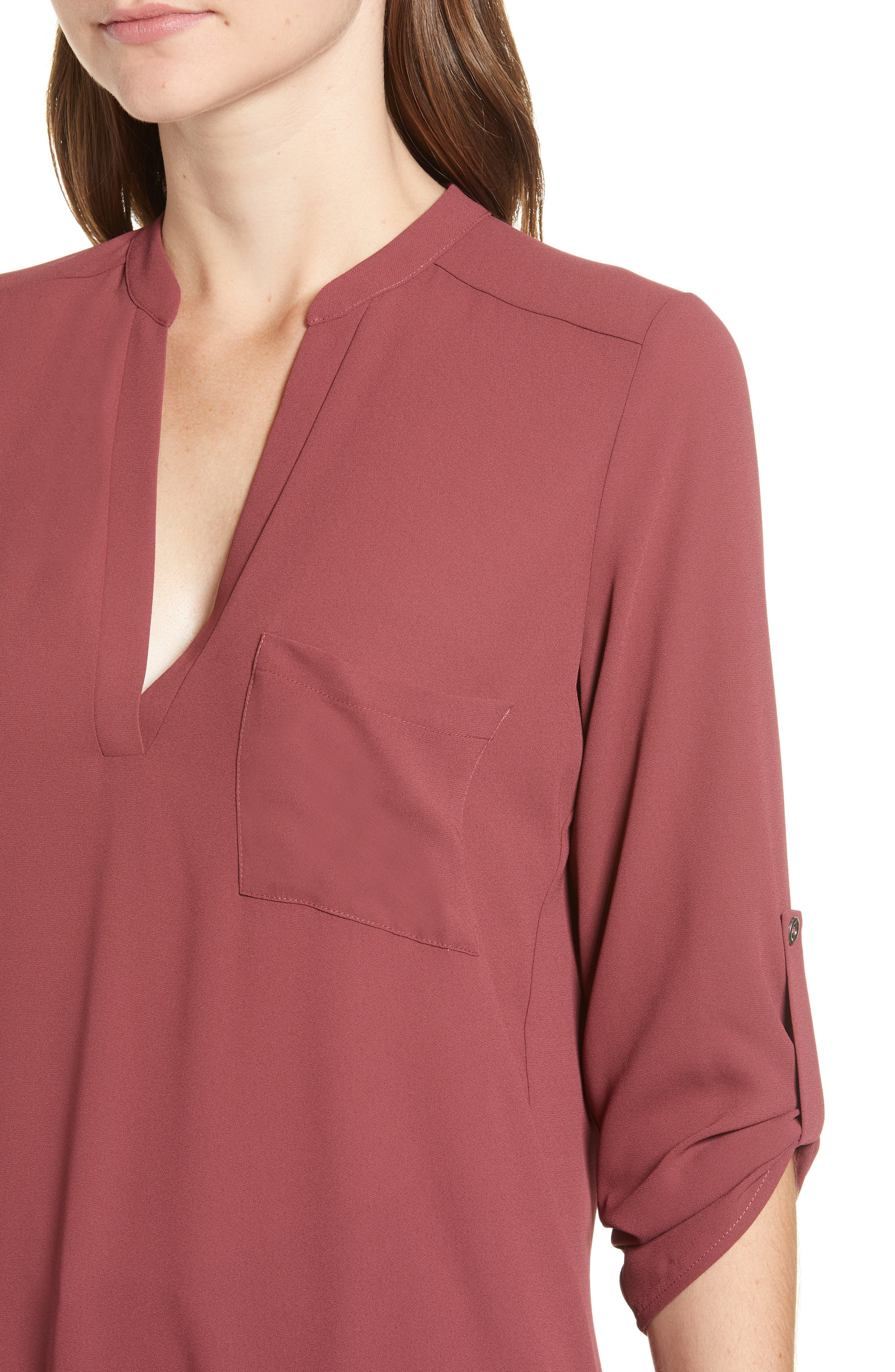 ,                             Perfect Roll Tab Sleeve Tunic,                             Alternate thumbnail 129, color,                             648