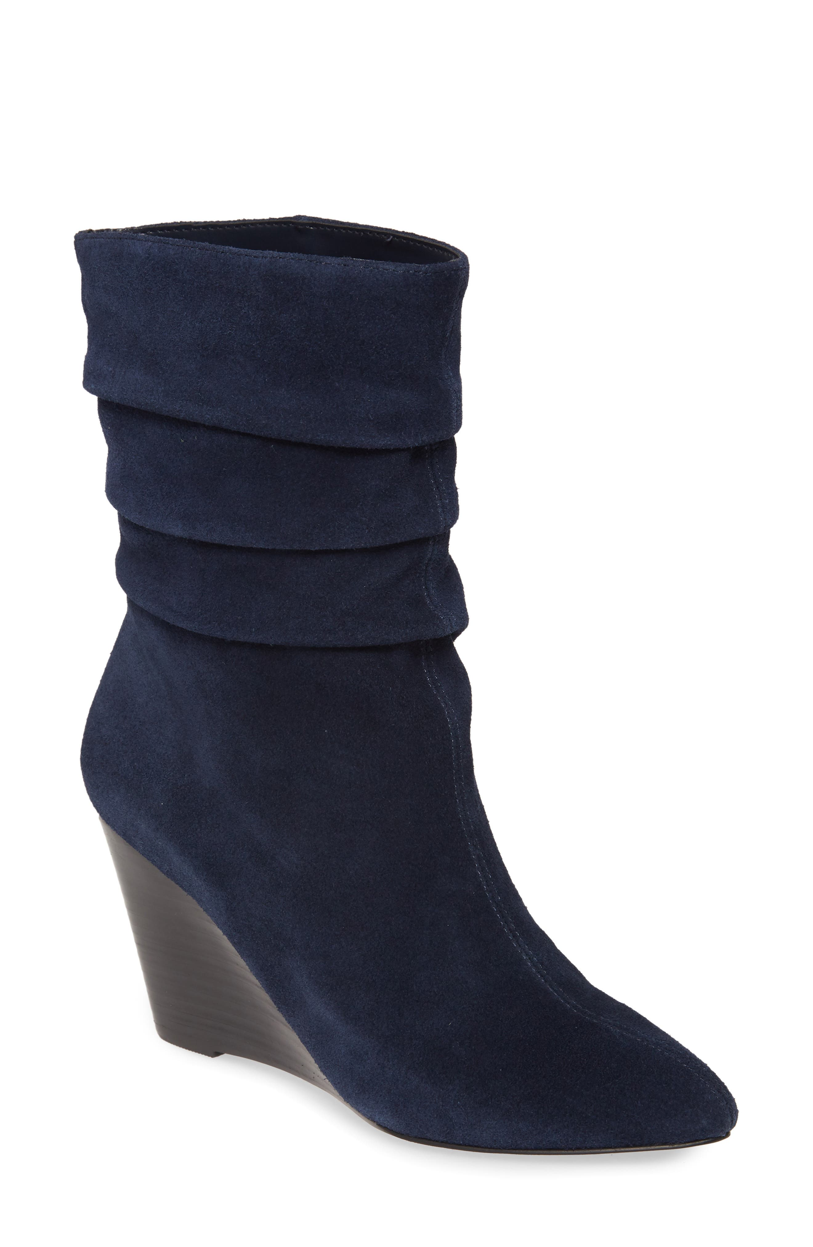 Charles By Charles David Empire Wedge Bootie, Blue