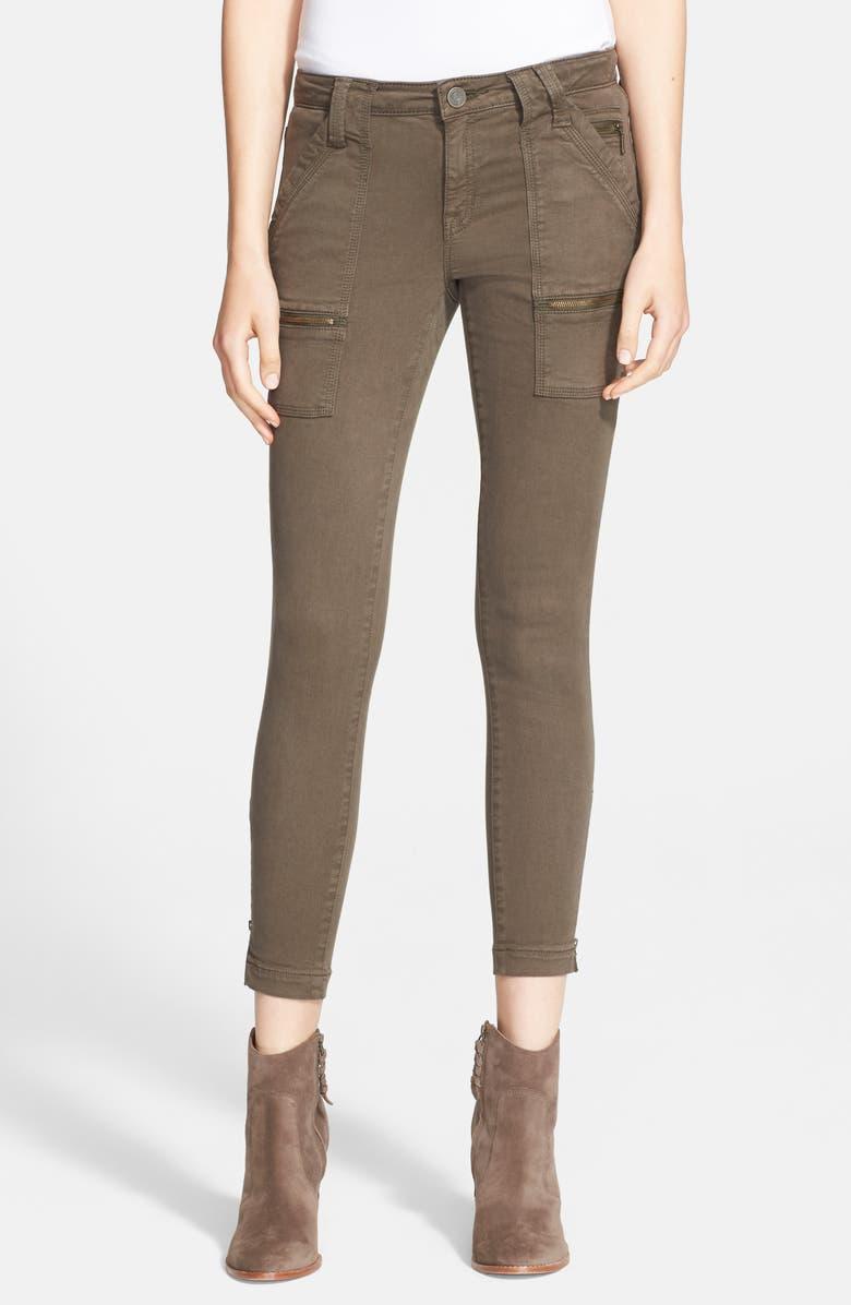 JOIE Park Skinny Pants, Main, color, FATIGUE