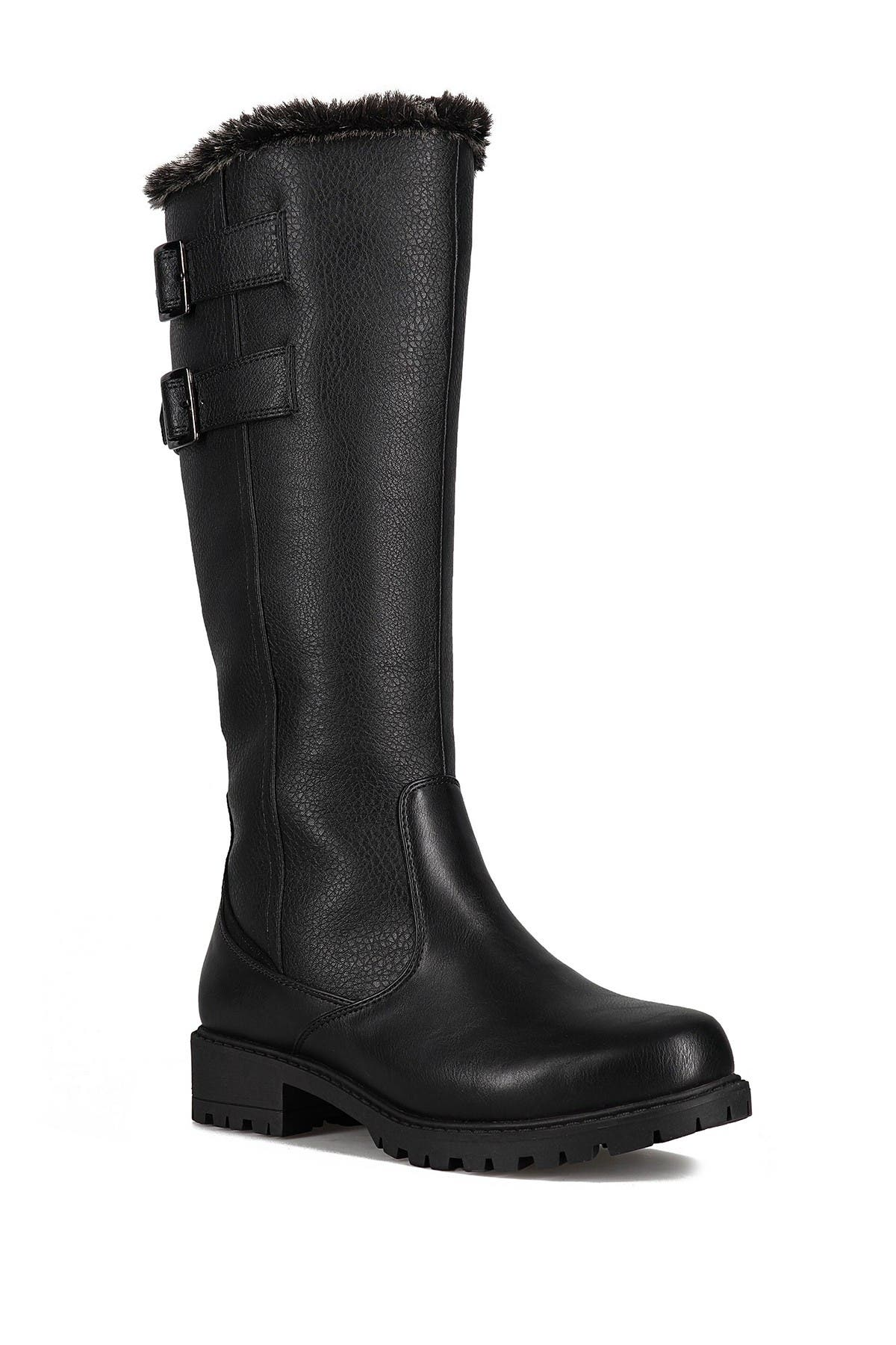 Image of Aquatherm by Santana Canada Poppy Waterproof Faux Fur Tall Snow Boot