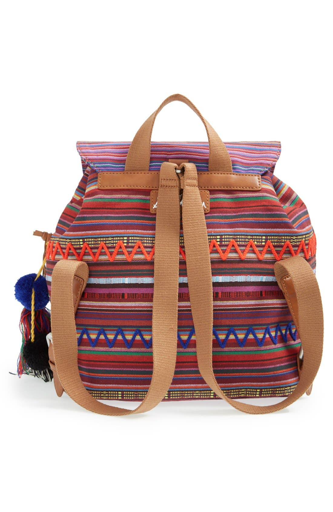 ,                             'Bella' Woven Backpack,                             Alternate thumbnail 11, color,                             650