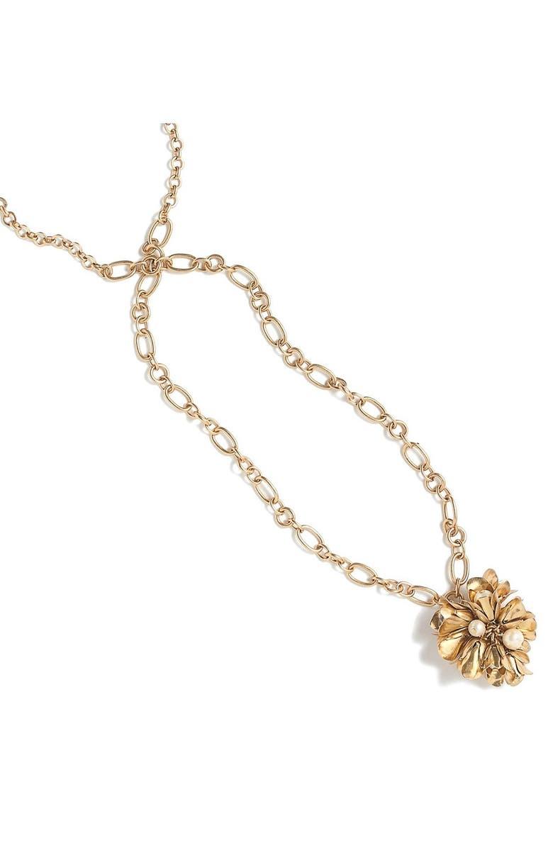 J.CREW Floral Drop Pendant Necklace, Main, color, 710