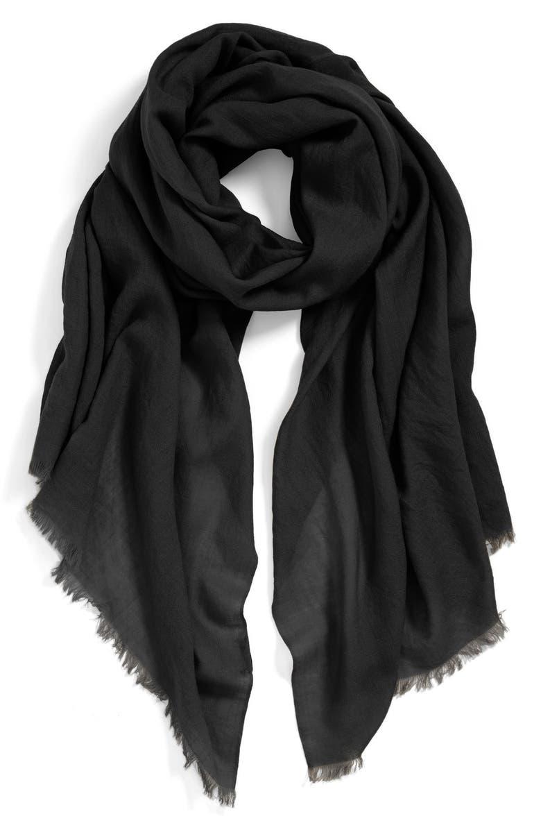 ECHO Solid Wool Wrap, Main, color, 001