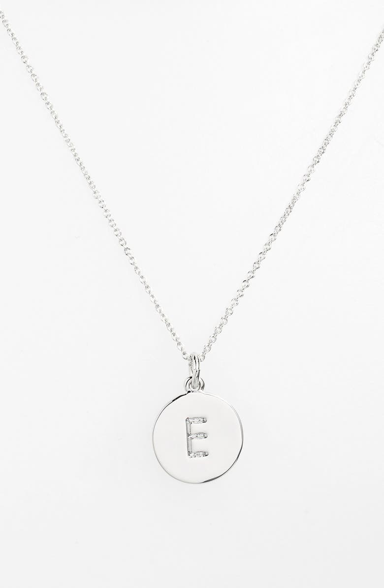 KATE SPADE NEW YORK 'one in a million' initial pendant necklace, Main, color, SILVER E