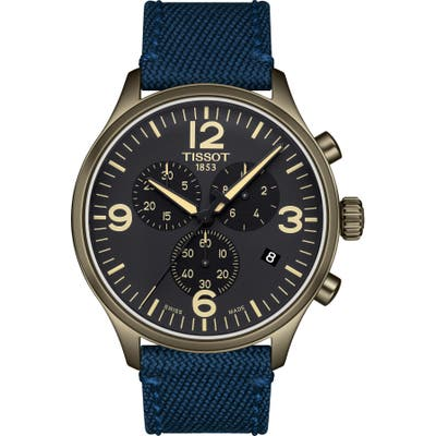 Tissot Chrono Xl Collection Textile Strap Watch, 45Mm
