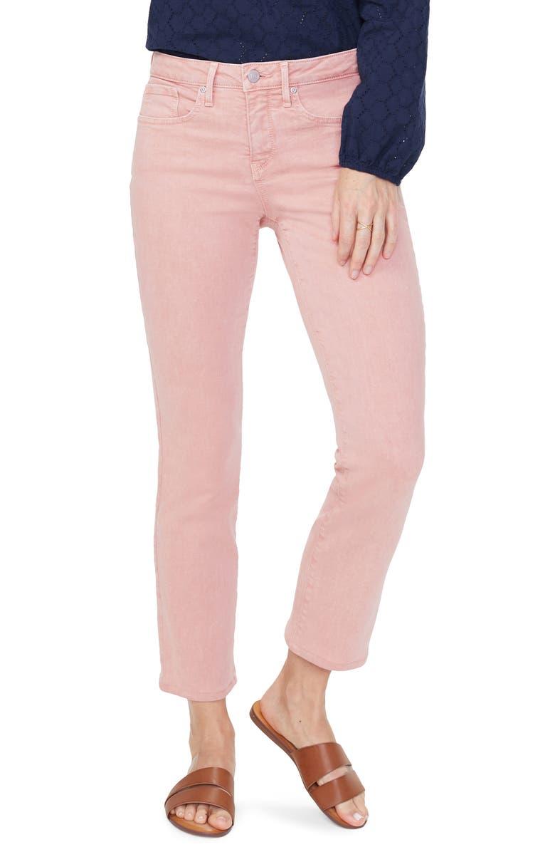 NYDJ Sheri High Waist Stretch Slim Ankle Jeans, Main, color, CORAL HAZE