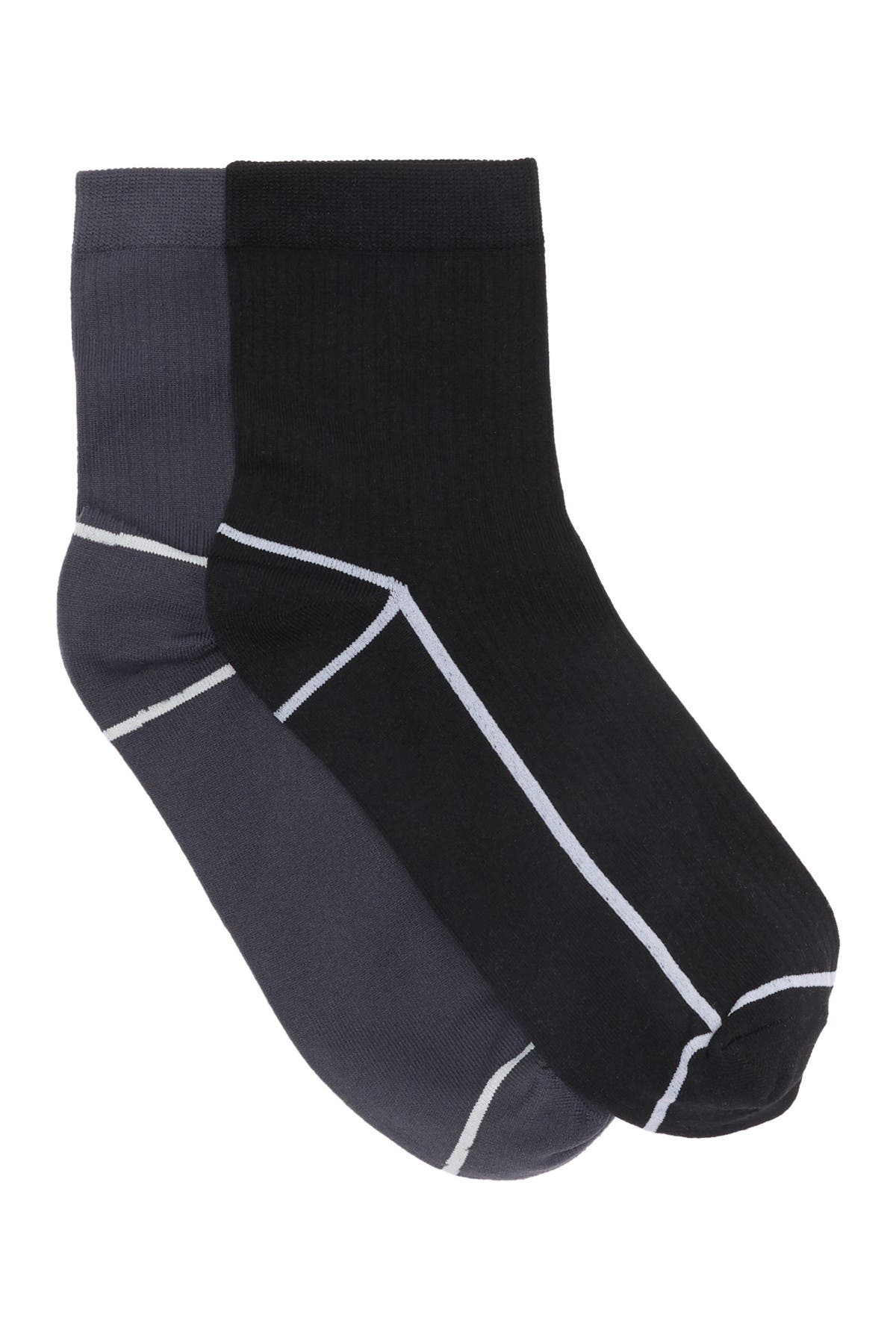 Image of DKNY Quarter Crew Socks - Pack of 2