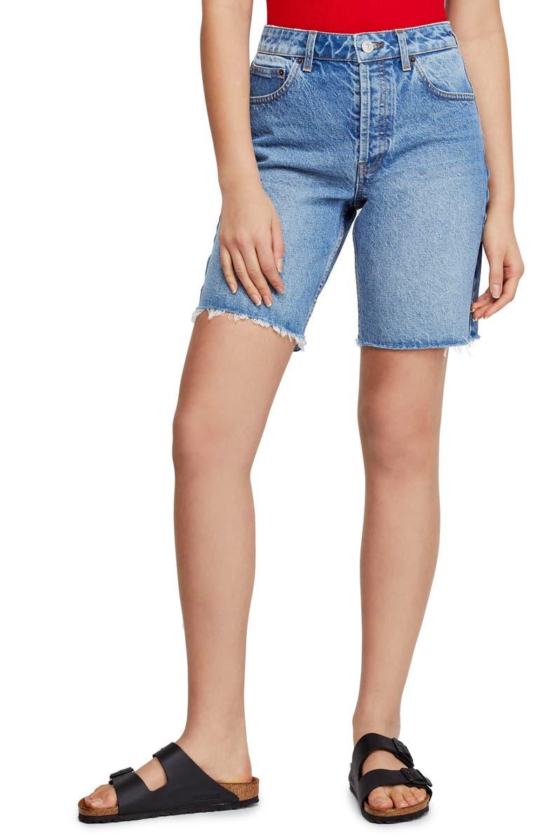 BDG URBAN OUTFITTERS Denim Boyfriend Shorts, Main, color, 400