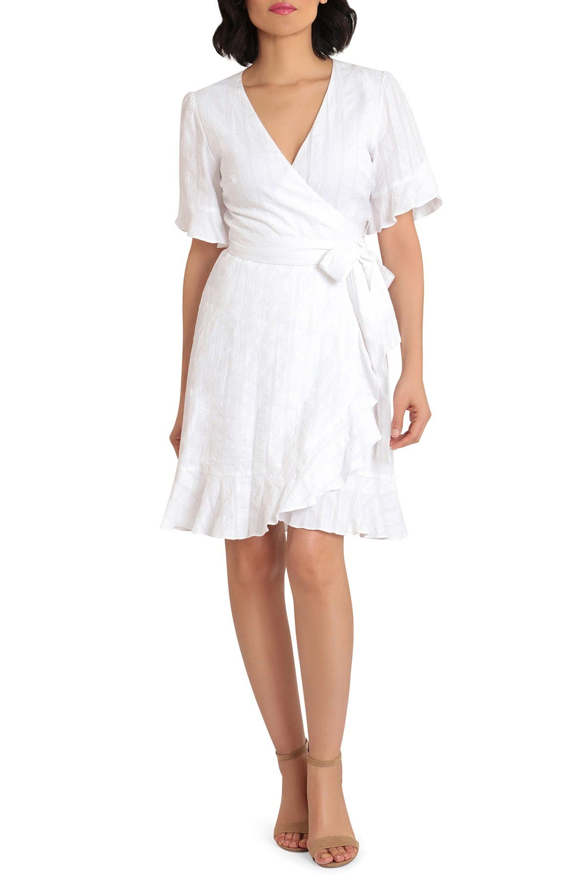 Image of Donna Morgan Short Sleeve Lace Fit and Flare Dress