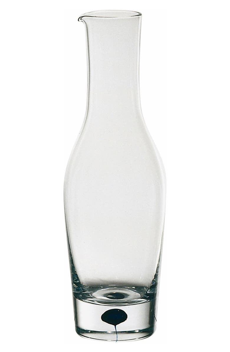 ORREFORS 'Intermezzo' Crystal Decanter, Main, color, CLEAR/ BLUE
