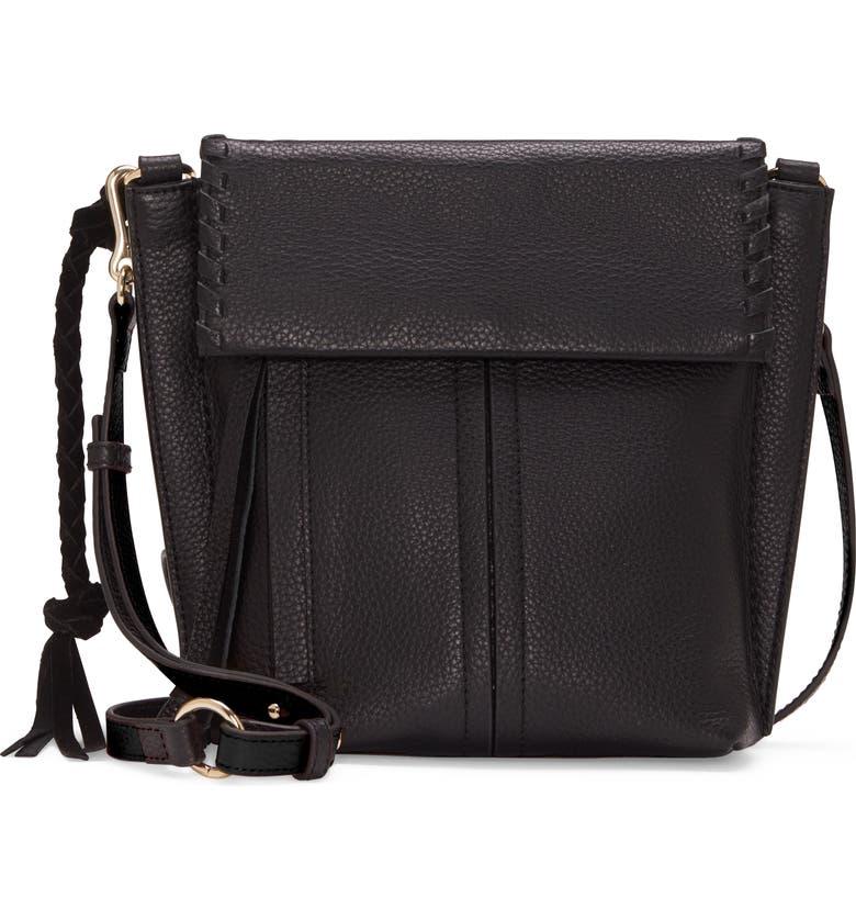 VINCE CAMUTO Caol Leather Crossbody Bag, Main, color, 001