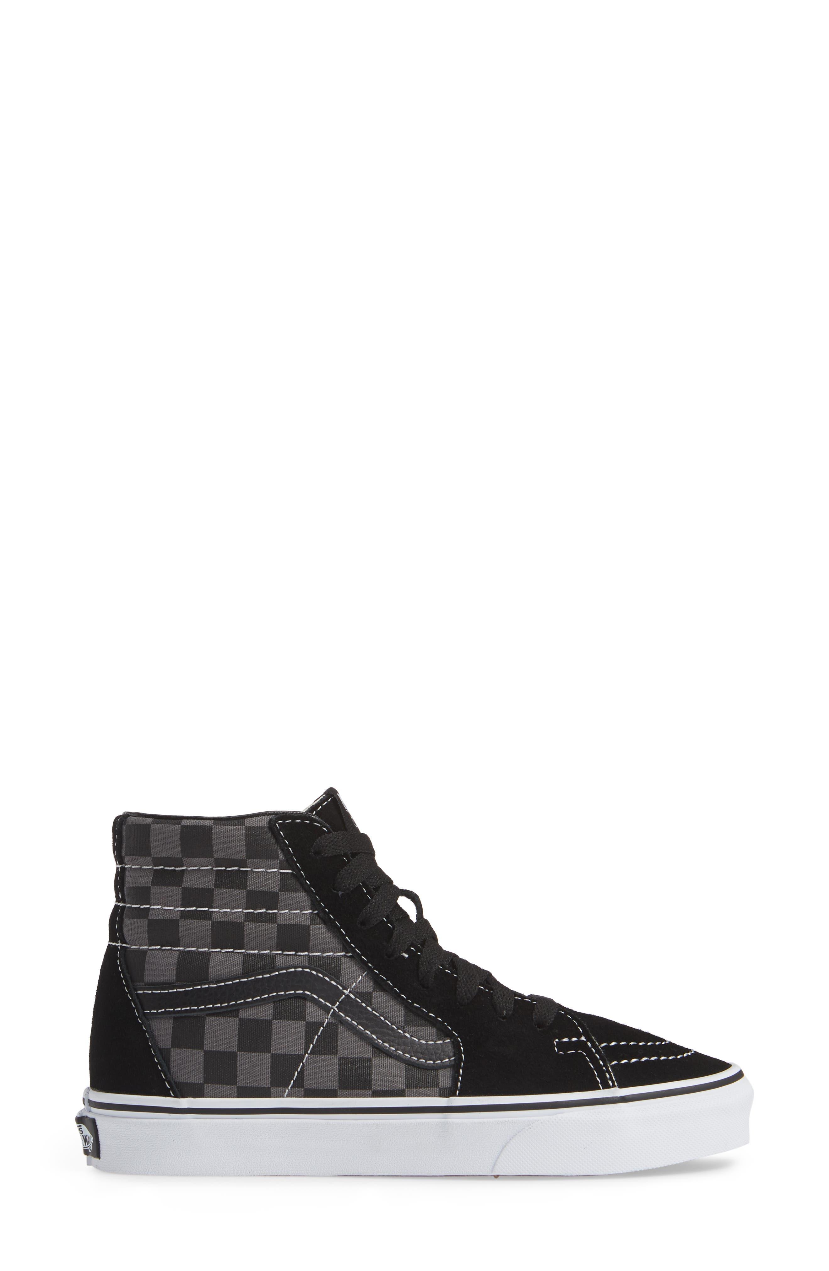,                             Sk8-Hi Checker Sneaker,                             Alternate thumbnail 9, color,                             007