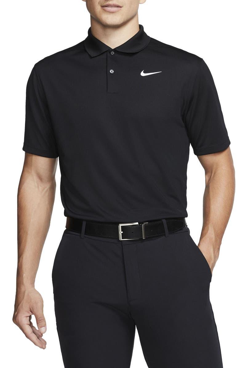 NIKE Golf Dri-Fit Victory Polo Shirt, Main, color, BLACK/ WHITE