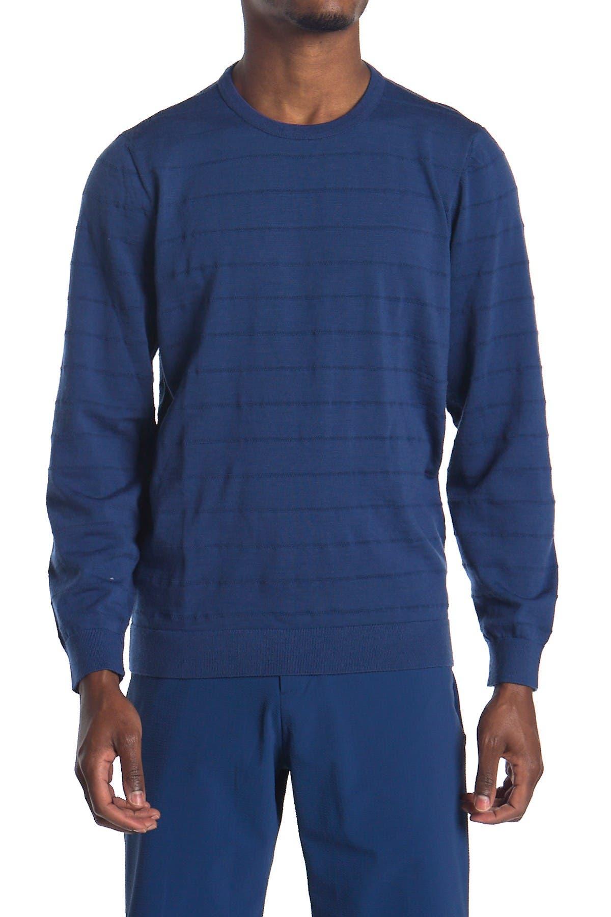 Image of adidas Printed Crewneck Wool Golf Sweater