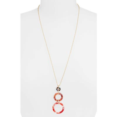 Lele Sadoughi Triple Hoop Pendant Necklace