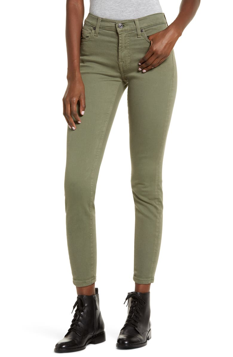 7 FOR ALL MANKIND<SUP>®</SUP> Ankle Skinny Jeans, Main, color, AGAVE