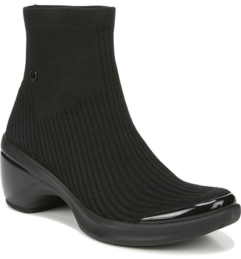 BZEES Wicked Sock Bootie, Main, color, BLACK FABRIC