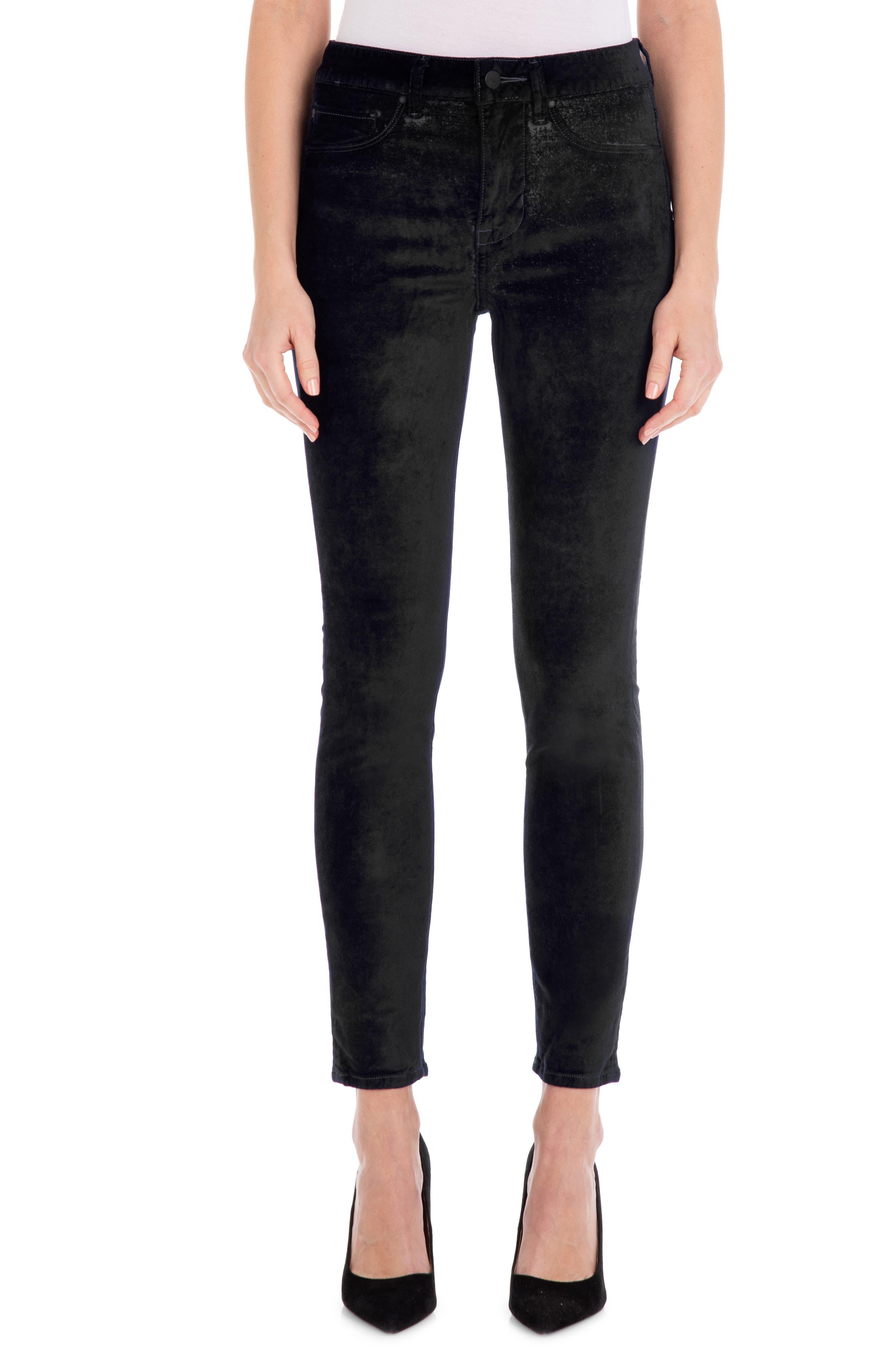 Women's Fidelity Gwen Velveteen Ankle Skinny Jeans