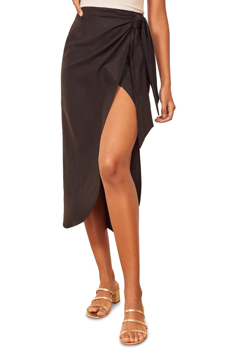 REFORMATION Citron Skirt, Main, color, 001