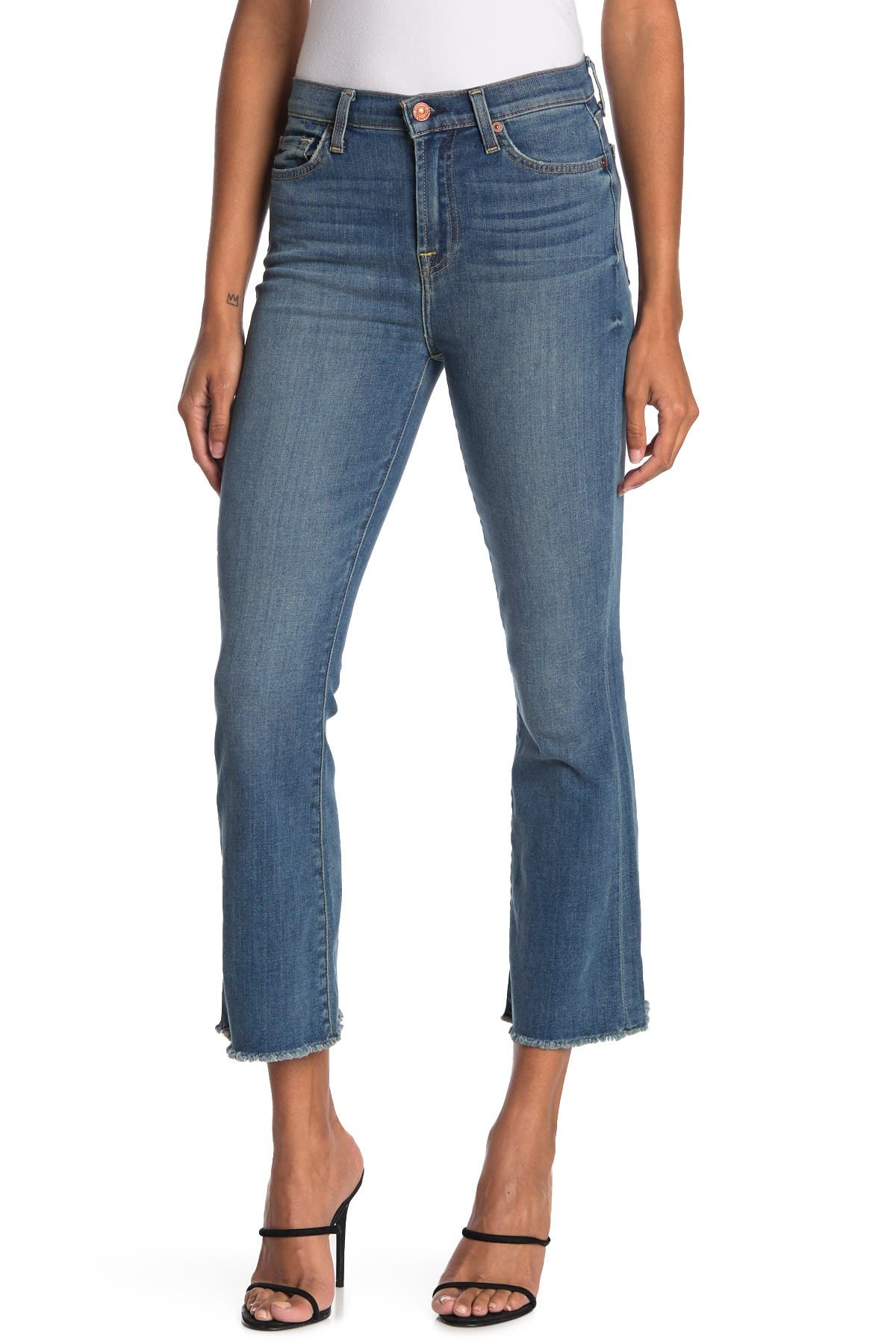 Image of 7 For All Mankind High Waist Slim Kick Crop Jeans