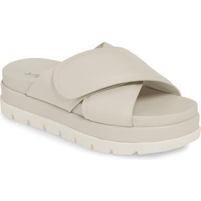 Jslides Bella Platform Slide Sandal, White