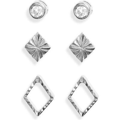 Sterling Forever 3-Pack Stud Earrings