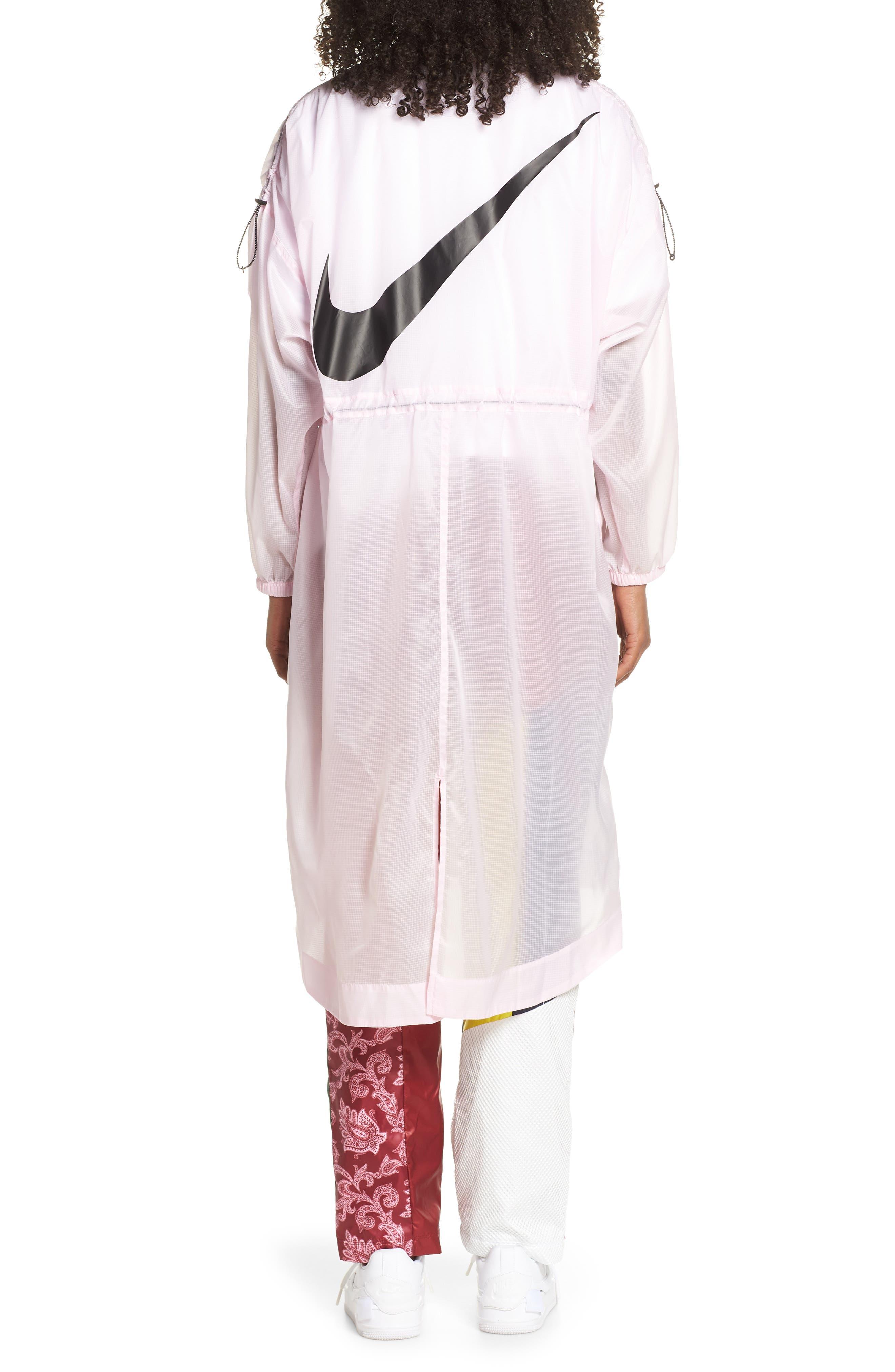 ,                             Sportswear Women's Woven Jacket,                             Alternate thumbnail 2, color,                             PINK FOAM/ BLACK