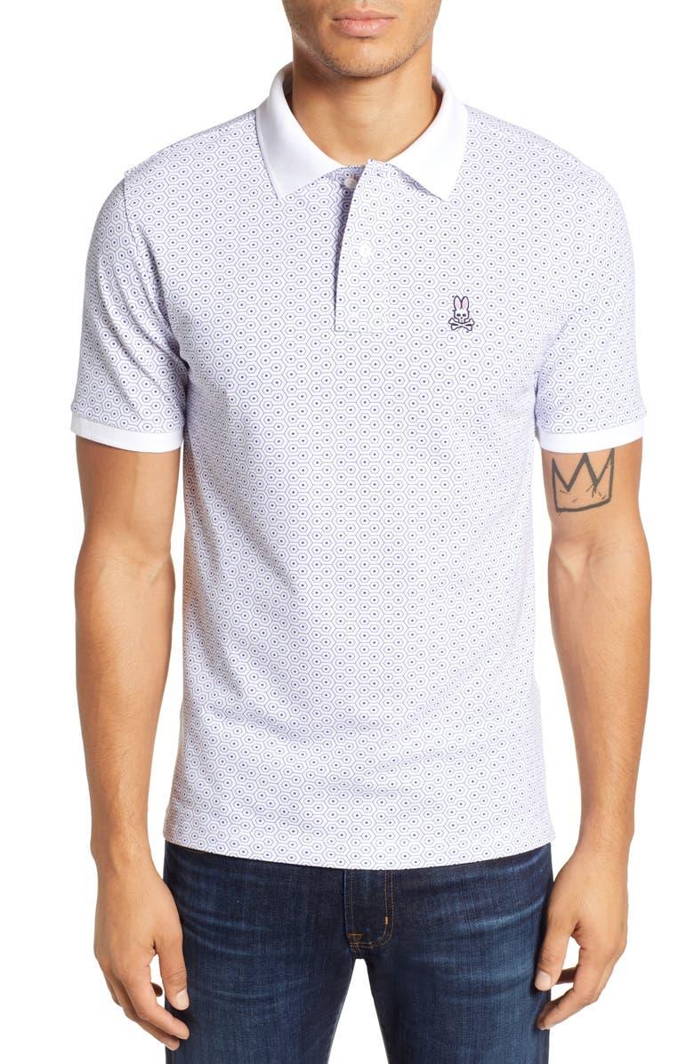 PSYCHO BUNNY Twizell Polo Shirt, Main, color, 100