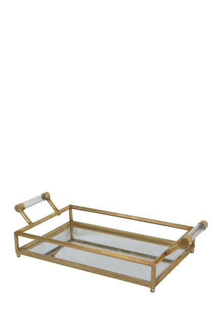 Image of COSMO BY COSMOPOLITAN Gold Contemporary Mirrored Tray