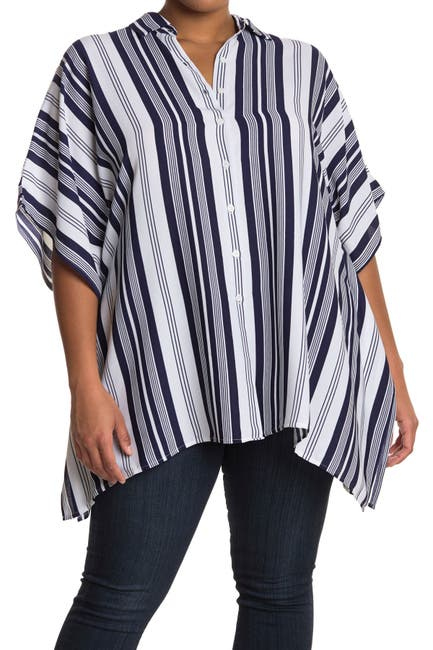 Image of Tommy Bahama Tan Lines Striped Cover-Up
