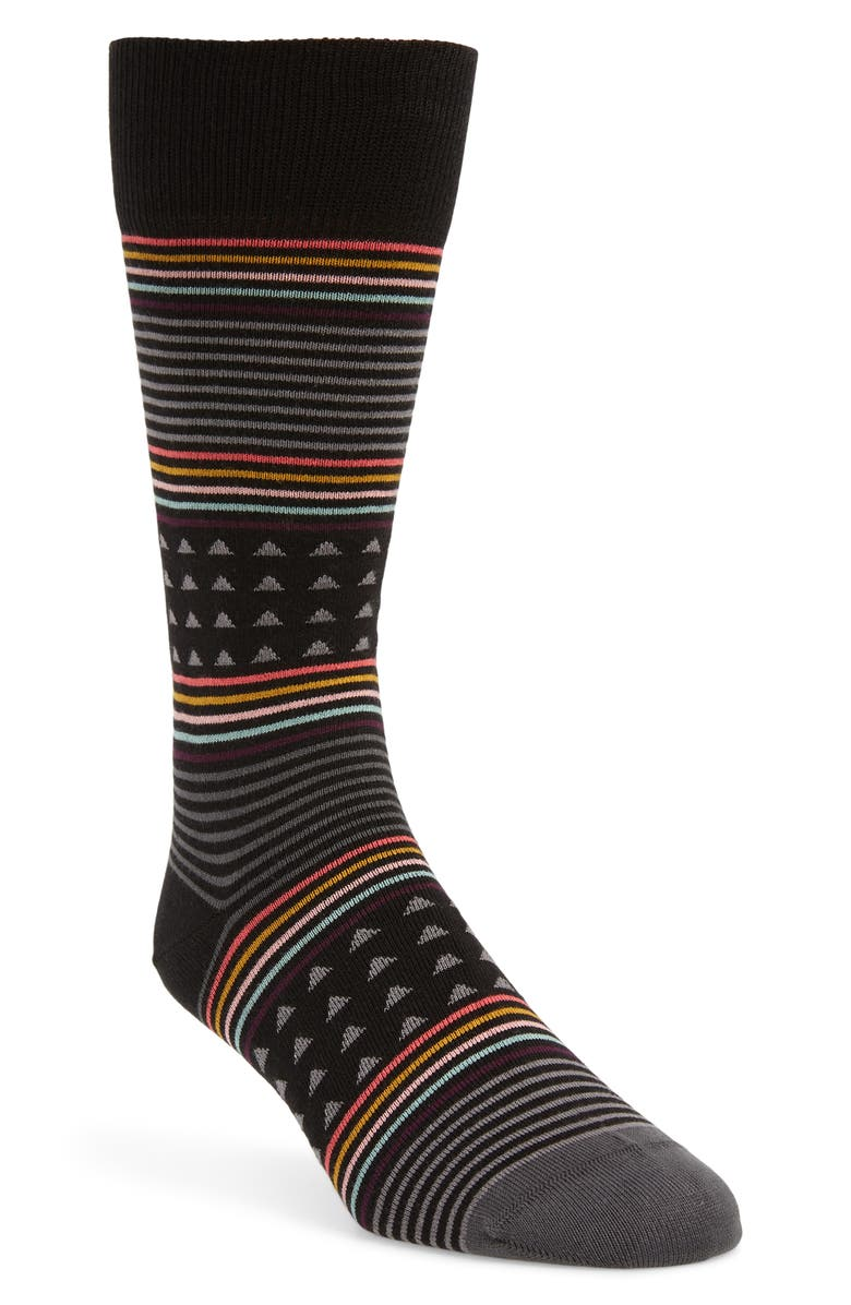 PAUL SMITH Jack Stripe Socks, Main, color, BLACK