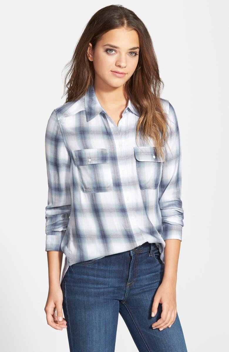PAIGE Denim 'Trudy' Button Front Plaid Shirt, Main, color, 425