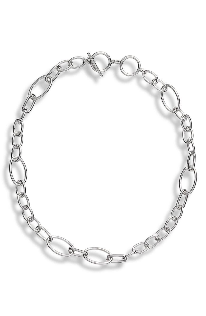 HALOGEN<SUP>®</SUP> Chain Collar Necklace, Main, color, RHODIUM