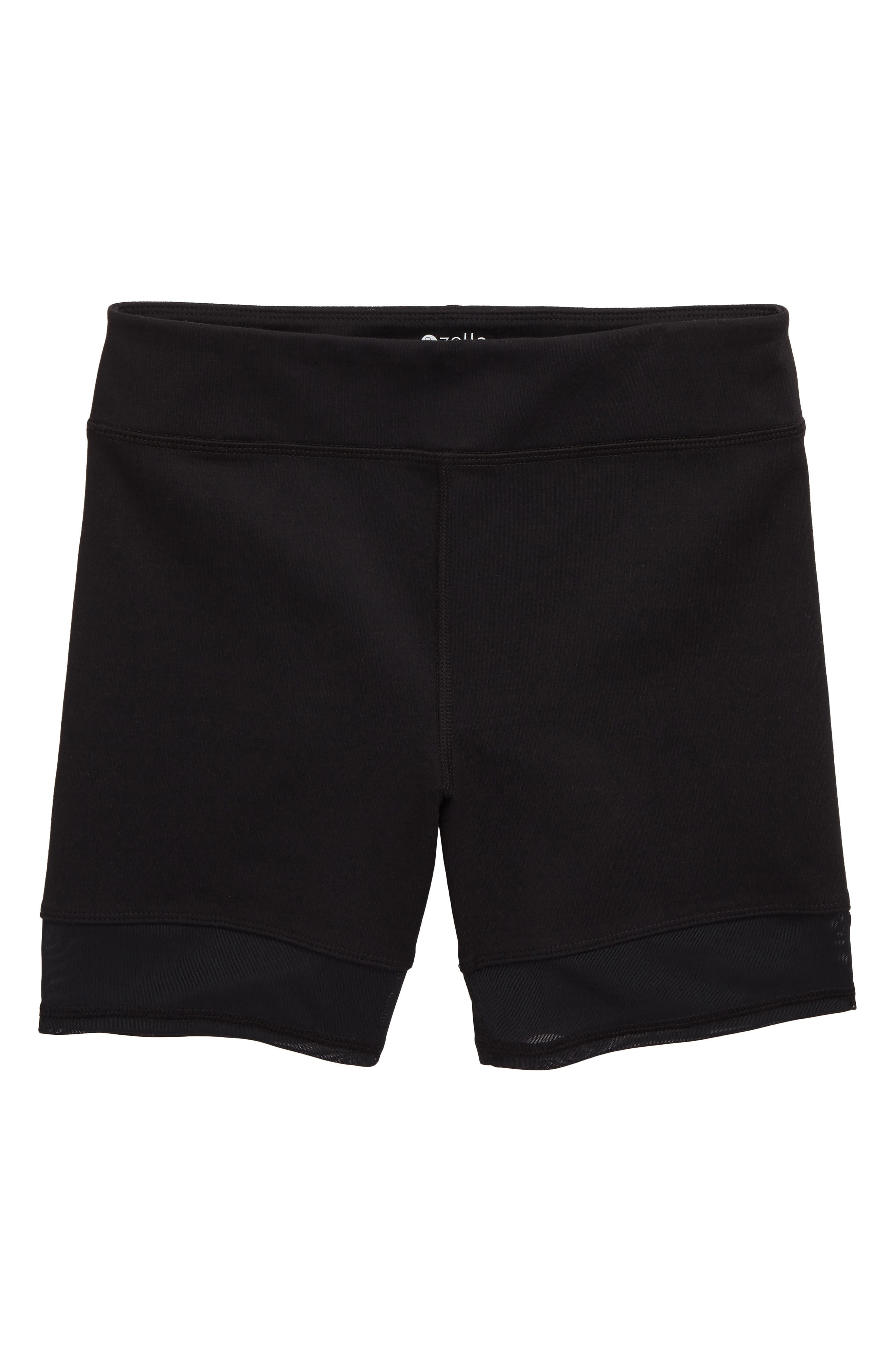 Girls Zella Girl Mesh Trim Bike Shorts