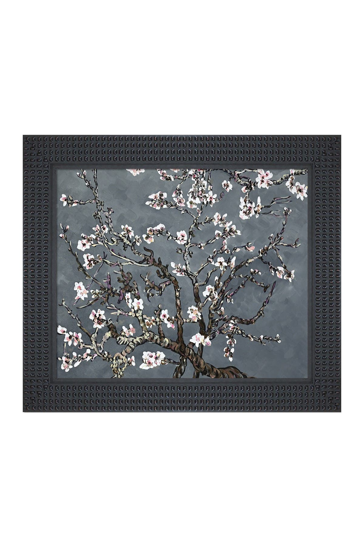 Image of Overstock Art Branches of an Almond Tree in Blossom, Pearl Grey - Framed Oil Reproduction of an Original Painting by La Pastiche Originals