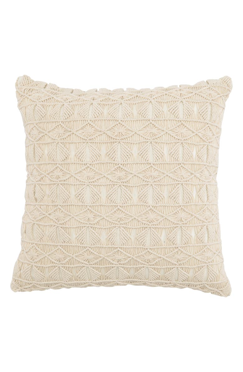 VILLA HOME COLLECTION Laurie Accent Pillow, Main, color, NATURAL