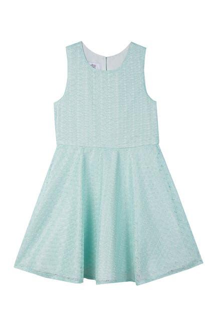 Image of Badgley Mischka Sleeveless Lace Dress