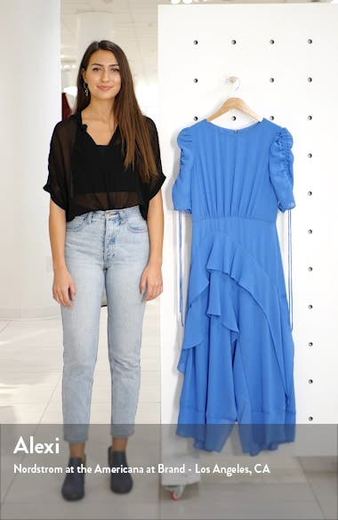 Ruched Sleeve Tiered Georgette Dress, sales video thumbnail