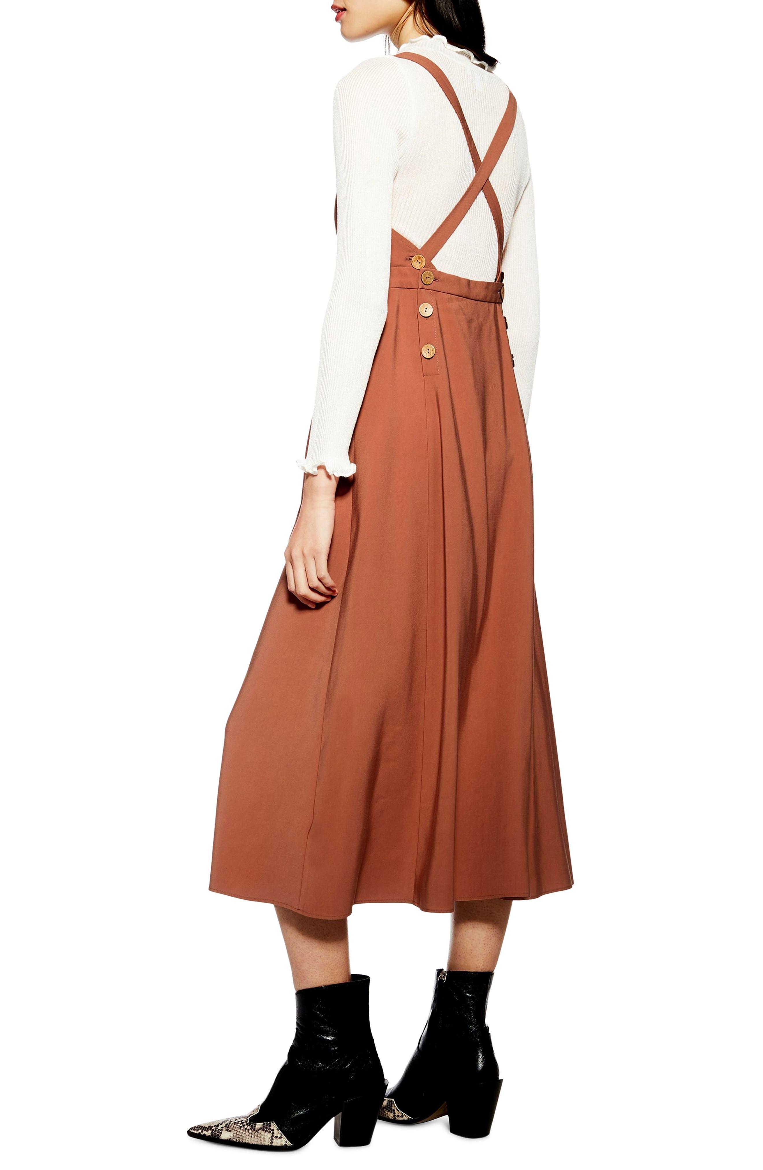 ,                             Tilda Pinafore Midi Dress,                             Alternate thumbnail 6, color,                             200