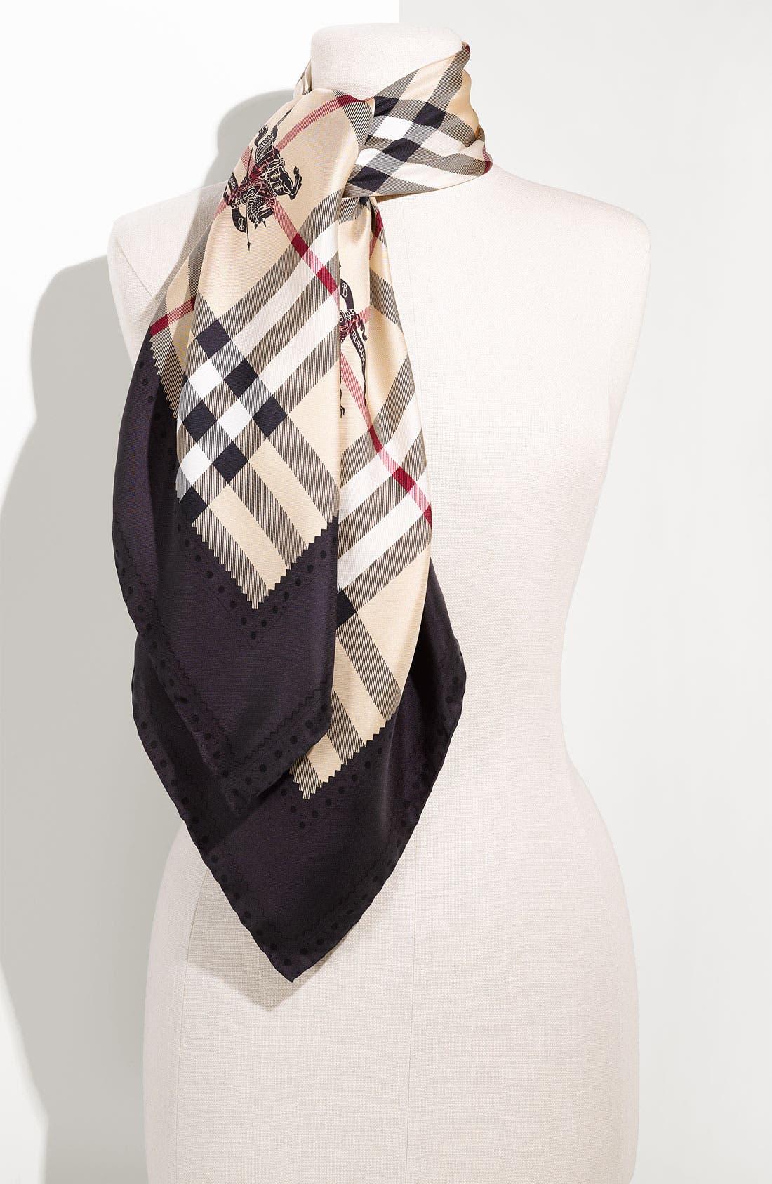 Check Silk Scarf, Main, color, 020