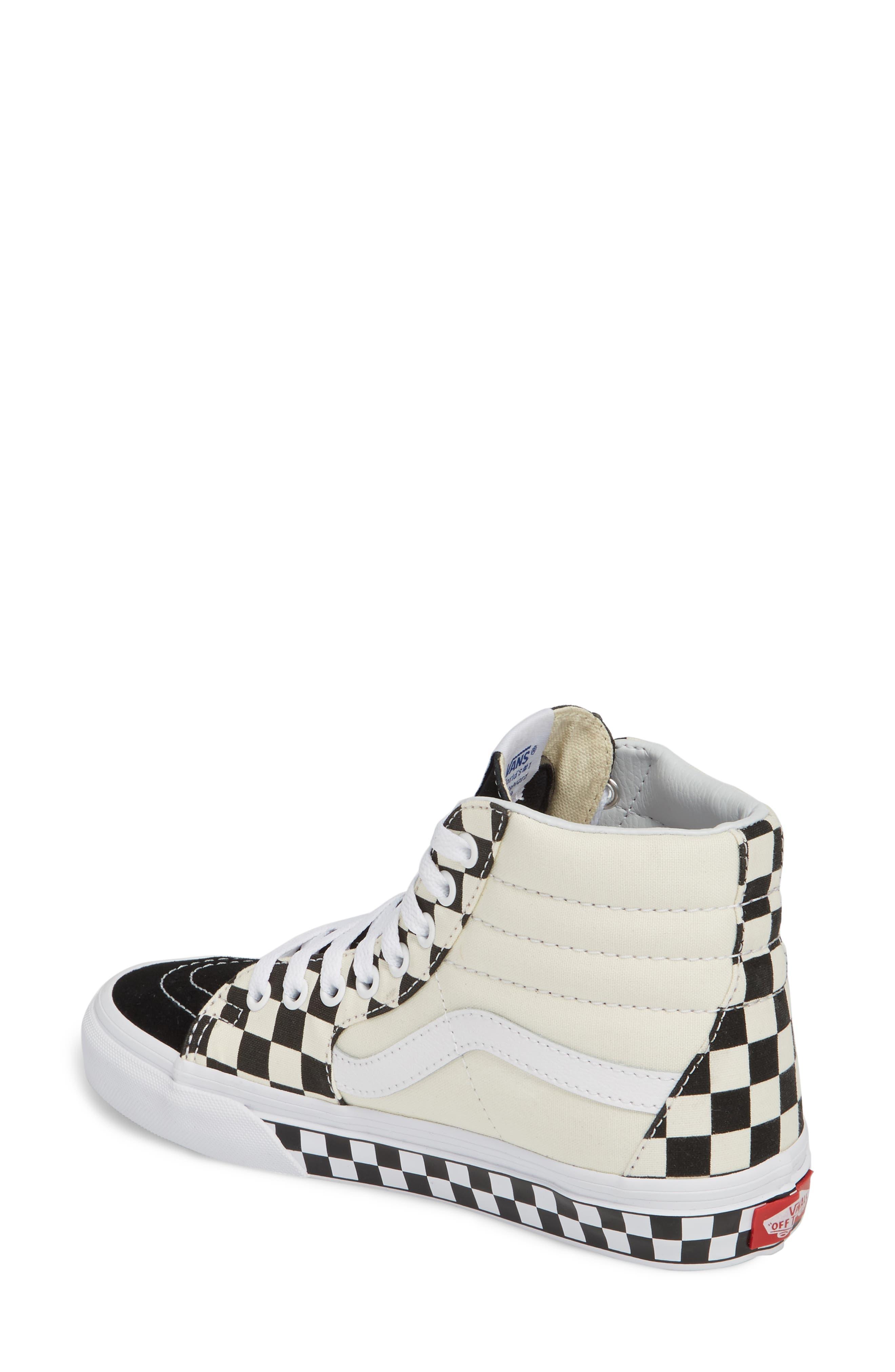 ,                             Sk8-Hi Checker Sneaker,                             Alternate thumbnail 18, color,                             100